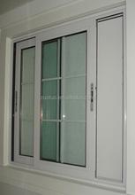 pvc sliding two panels window
