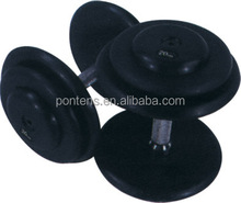 combination of black plastic dumbbell.