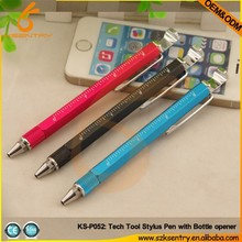 Tech-Tool Pen with bottle opener,ruler,stand,ball pen,screw driver(3 inch)