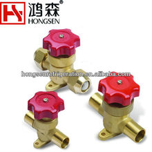 hongsen diaphragm hand valves refrigerant parts 5/8SAE For refrigeration equipment
