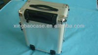 ABS 4 wheel case luggage,case trolleys with Nylon and elastic mesh bag inner,travel trolley case