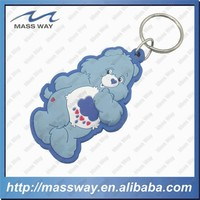 custom cartoon 3D rabbit shape soft PVC keyring