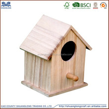 custom decorated new unfinished wooden bird house wholesale,wooden bird cage
