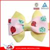 2015 custom flower printed grosgrain hairbow for kids /printed grosgarin hairbows for kids