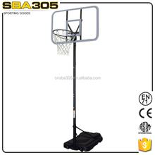 portable pole height basketball set backboard