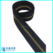 5# shiny gold Y teeth long chain zipper