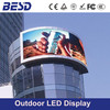 3 years warranty factory price P10, P16 curved led sign/outdoor curved led screen/curved led display