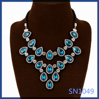 2016 china factory price necklaces costume jewelry wholesale ladies summer daily wear waterdrop shaped choker rope necklace