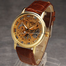 New Fashion Mens Luxury Stainless Steel Automatic Mechanical Skeleton Sport Wrist Watch Hot sales