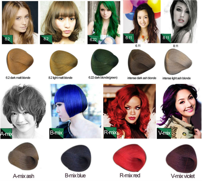 80ml100ml Hair Color Dark Brown Hair Color Golden Yellow Hair Color