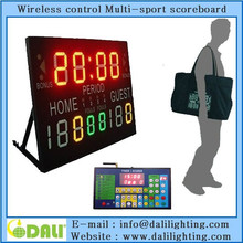 portable mul-tifunction Led display scoreboard volleyball/ tennis/ table tennis/football/basketball