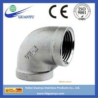 Factory direct sell 4 inch stainless steel 90 degree elbow, with BSP/NPT thread