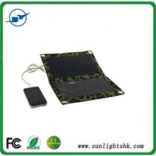 5W solar charger, high efficiency solar panel for iPhone 6/ iPad and smartphone charger solar