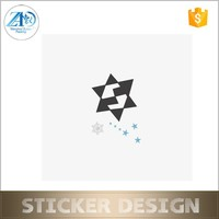 Custom water transfer star safe tattoo sticker