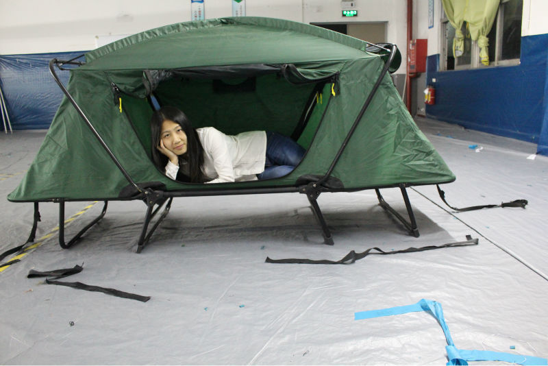 Smart tent off ground tent above ground rainfly bed for Single bed tent canopy