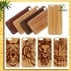 ANIMAL FACE wood case for iphone /hot selling for iphone case wood with lasering design