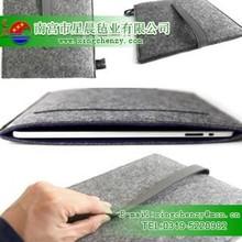 hot selling fashion design eco-friendly grey color100% wool felt bag for tablet pc