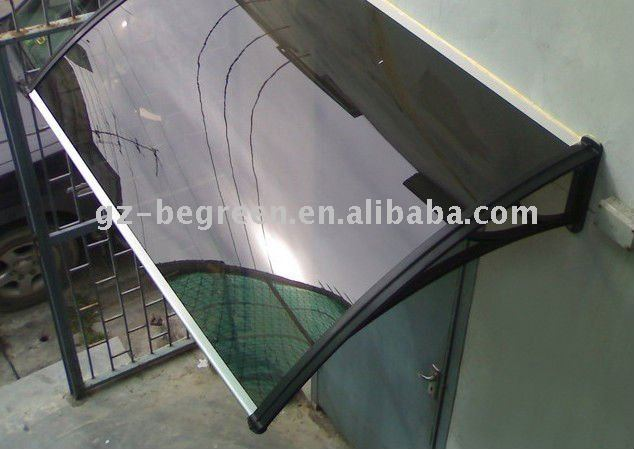Guangzhou BEGREEN de plástico de policarbonato cubierta toldo, Dosel puerta
