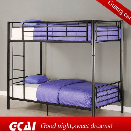 Hostel comfortable adult metal cheap full over full bunk for Cheap metal bunk beds
