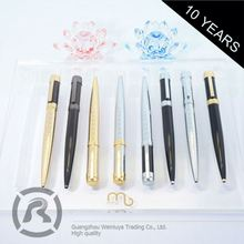 Retail Professional Factory Supply Custom Fitted Pure Rose Gold Roller Ball Pens