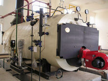 Oil Fired Steam Boiler / Oil Fired Hot Water Boiler OF Closed Vessel 1 Ton