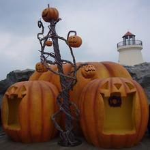 Outdoor Halloween decoration giant pumpkin