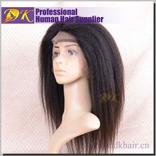 Hot sale Factory Price Kinky Virgin Peruvian Full lace front funny hair wigs