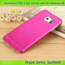 aluminum tpu 2 pcs combo case for samsung galaxy s6 g920, for samsung galaxy s6 case aluminum