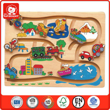 Top Bright Alibaba trade assurance educational toys 3d wood puzzle bsci wood toys confirm to EN71 and ASTM
