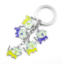China promotion cheap custom metal animal leather keychains