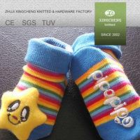 socks XC 501 rubber sole organic cotton baby socks shoes