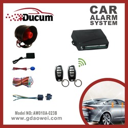 high quality one way car alarm system with anti-theft/remote arm/trunk release