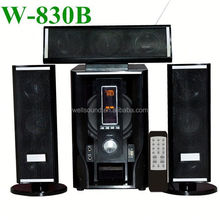 3.1 channel multimedia audio speaker quality audio with USB/SD/MMC/2MIC/Remote Control