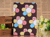 Low order quantity printing turnsole notebook stand leather case for IPad mini