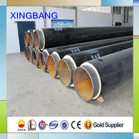 polyurethane foam layer hdpe jacket layer and spiral welded carrier steel pipe bonded insulation steel pipe