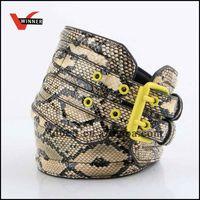 Newest design popular fashion lady fake animal leather belt