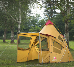 Korean Style Conical Camping Tent Big Family double layer instant automatic tent camping