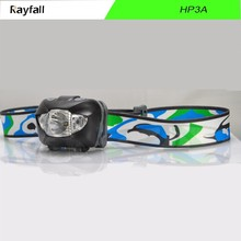 Newest high power 3 aaa battery powered led head lamp with led headlamp flood and spot function