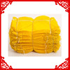 PP mesh bag golden yellow color 52*83cm use for potato onion corn