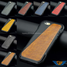 Ultra thin mobile phone leather case for iPhone 6 slim armor case hybrid case