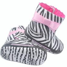 2012 Baby Fashion Boots Zebra Print