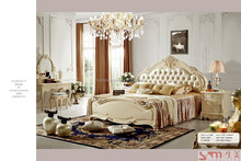 High quality wooden vintage bedroom sets