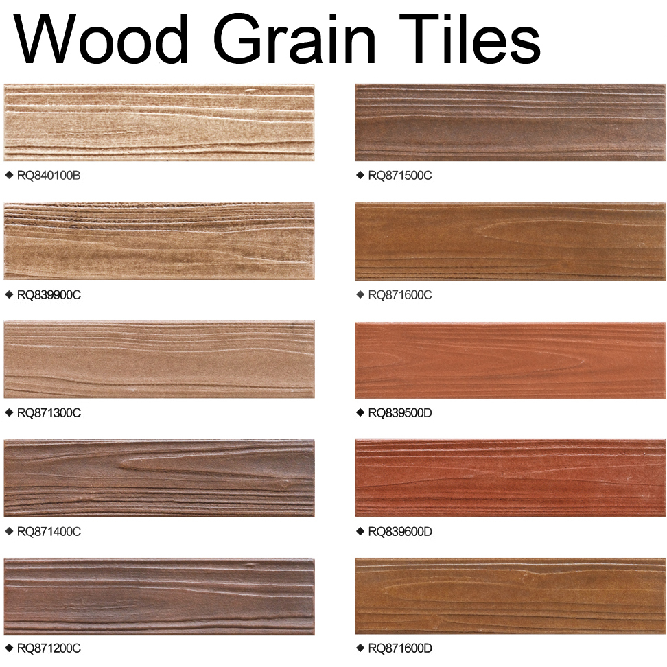 Modern Design Non Slip Wood Grain Look Porcelain Full Body Wall