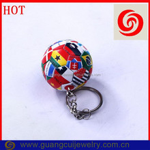 Copa America colorful football keychains