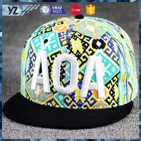 Latest arrival custom design 5 panel woven label snapback hat for wholesale