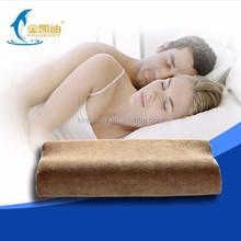 Non-slip travel satin 100% polyeste memory foam pillow