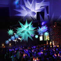 NEW!!Party/events decoration attractive color changing giant led inflatable star