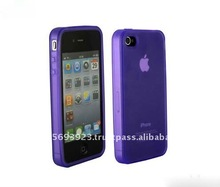 factory price for Apple Iphone 4 purple TPU case