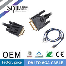 SIPU black and blue color gold connecter dvi to vga splitter cable