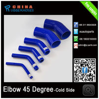 Factory supply 45 Degree Elbow Coupler Silicone Turbo Pipe Blue Samples Free